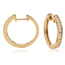 Image for 0.50CT Modern Round Diamond Hoop Earrings