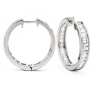 Image for 3.00CT Modern Baguette Diamond Hoop Earrings