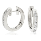 Image for 1.00CT Modern Princess Diamond Hoop Earrings