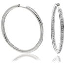 Image for 0.75CT Modern Round Diamond Hoop Earrings