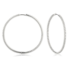 1.10CT Modern Round Diamond Hoop Earrings