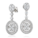 2.00CT Modern Round Diamond Drop Earrings