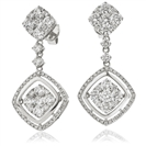 3.30CT Modern Round Diamond Drop Earrings
