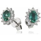 Image for 1.00CT Emerald & Diamond Earrings
