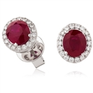 Image for 2.50CT Ruby & Diamond Earrings