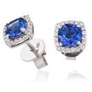 Image for 2.00CT Tanzanite & Diamond Cluster Earrings