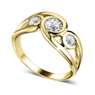 Image for 0.80CT Modern Round Diamond Bubble Trilogy Dress Ring