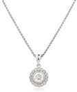 Image for 0.50CT Round Diamond Single Halo Pendant
