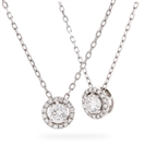 Image for 0.40CT Round Diamond Single Halo Pendant