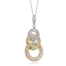 Image for 1.20ct Triple Hoop Round Diamond Designer Pendant