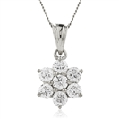 Image for 2.00CT Cluster Round Diamond Designer Pendant