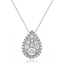 Image for 0.50CT Cluster Round Diamond Designer Pendant