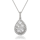 Image for 0.75CT Cluster Round Diamond Designer Pendant