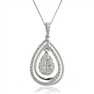 Image for 0.90CT Cluster Round Diamond Designer Pendant