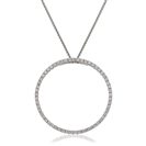 Image for 0.50CT Pave Set Round Diamond Designer Pendant