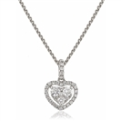 Image for 0.40CT Classic Round Diamond Heart Pendant
