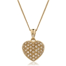 Image for 0.20CT Classic Round Diamond Heart Pendant
