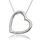 Image for Classic Round Diamond Double Heart Pendant