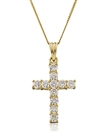 Image for 1.50CT Classic Round Diamond Cross Pendant