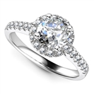 1.00ct SI1/E Round Diaond Halo Engagement Ring