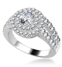 Modern Double Halo Diamond Ring