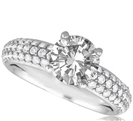 Image for Three Row Round Diamond Vintage Ring