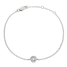 0.25CT Classic Round Diamond Chain Bracelet