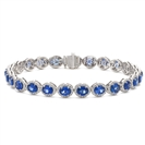 Image for 12.30CT Elegant Diamond & Blue Sapphire Bracelet