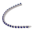 Image for 15.25CT Elegant Diamond & Blue Sapphire Bracelet