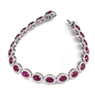Image for 12.30CT Elegant Diamond & Ruby Tennis Bracelet