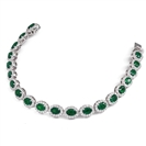Image for 12.30CT Elegant Diamond & Emerald Tennis Bracelet