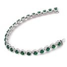 Image for 14.50CT Elegant Diamond & Emerald Tennis Bracelet