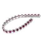 Image for 15.00CT Elegant Diamond & Ruby Tennis Bracelet