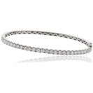 0.90CT Elegant Round Diamond Set Bangle