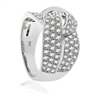 1.70CT Round Diamond Cross Over Dress Ring