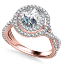 Image for Double Halo Infinity Round Diamond Ring