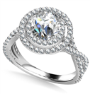 Double Halo Infinity Round Diamond Ring
