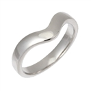 3mm Wishbone Wedding Ring, Size L, 18CT WHITE GOLD
