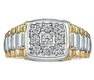 0.30CT I1/FG Mens Diamond Wedding Ring