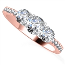 1.20CT SI1/F Round Diamond Trilogy Ring