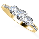 0.65CT VS/FG Round Diamond Shoulder Set Ring