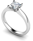 0.50CT SI2/F Princess Diamond Engagement Ring