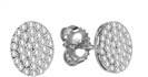 0.51CT VS/FG Round Diamond Cluster Earrings