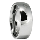 8MM Classic Domed Tungsten Wedding Ring, SIZE S