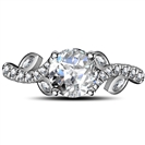Image for Round Diamond Designer Shoulder Set Ring