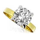 0.40CT SI2/G Round Diamond Solitaire Ring
