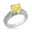 0.85CT VS1/FANCY YELLOW Cushion Diamond