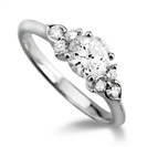 Modern Round Diamond Designer Ring