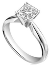 Image for 0.50CT SI2/G Princess Diamond Engagement Ring