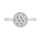 Image for 0.50CT Elegant Round Diamond Cluster Ring